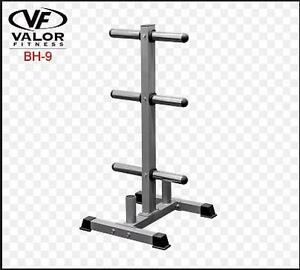 NEW VALOR FITNESS BAR/PLATE RACK - 111789470 - PLATE STORAGE RACK