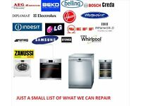 Washing machine, dryer, oven, dishwasher repair service.