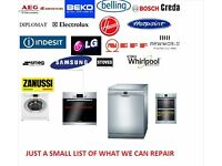 Washing machine, cooker, dishwasher repair service