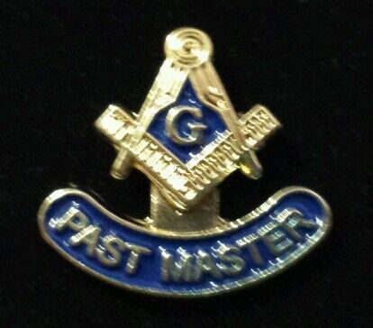 Freemason Past Master Lapel Pin