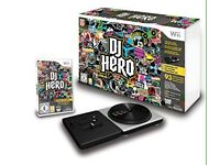 Wii DJ hero game and turntable controller