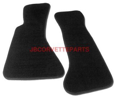 84-96 Corvette Basic Black Econo Floor Mats NEW