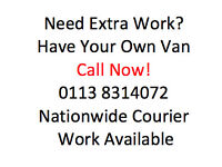 Couriers Needed Nationwide Work - Sameday - Nextday - Backload Deliveries