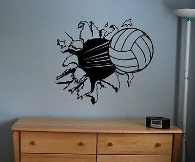 Volley Ball sticker decal kids room decor sports football large bedroom wall diy](Sports Room Decor)