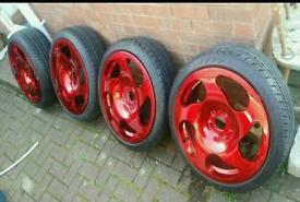 "18"" 3 SDM Replica Alloys Brand New Tyres AUDI A3 A4 VW Golf Jetta Touran SEAT Leon Altea SKODA VRS"