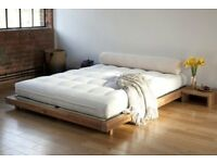 Platform King size Bed built from solid Acacia (Japanese style from Futon Company)