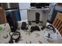 XBOX 360 KINECT WITH CONTROLER AND 4 GAMES