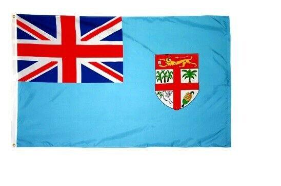 The Flagof Fiji,  kuila mai Viti Ocean Blue, 3 X 5 ft BRAND NEW !