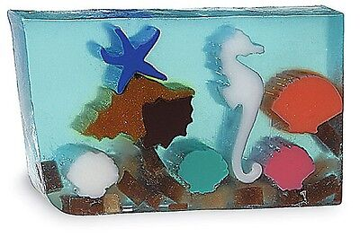 Primal Elements, MARINE LIFE Seaside Large Hand-cut 7.0+ oz Glycerin Soap Bar - Glycerin Soap Slice