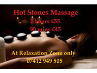 DEEP RELAXATION - 2 HOURS FULL BODY HOT STONES MASSAGE £55