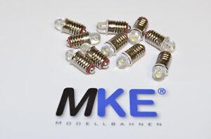 10 Stück E5,5 LED-Glühlampen Birnen wie 60010/600100! warm- weiß 16 - 22V NEU