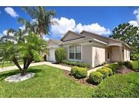FREE POOL HEAT 3 Bed Pool South Facing Games Room Villa on to Golf Course close to Disney in Florida