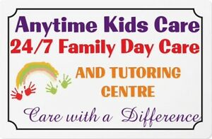 ANYTIME KIDS CARE Tutoring and Family Day Care Centre Auburn Auburn Area Preview