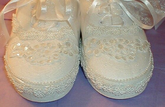 Wedding Shoes SNEAKERS Custom Lace & Pearls