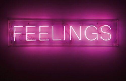 "Neon Light ""FEELINGS"" Vintage Store Custom Boutique Decor Si"