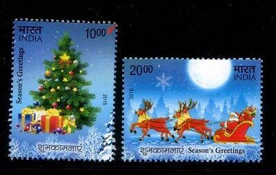 INDIA Christmas 2016 MNH set