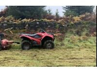 Quad flail,4wd lawnmower and digger for hire