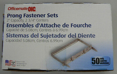 2 Hole- Prong Fasteners - Acco Fasteners-  Sealed New