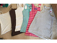Various vest tops all size 10