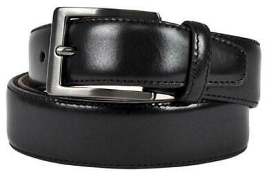 Taurus Mens Belt Casual Dress Black Top Grain Italian Leather  Size 36 Inches
