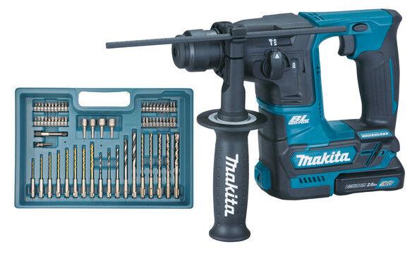 Makita HR166DSAE1 Akku-Bohrhammer 10,8 V mit SDS-plus Zubehör