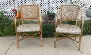 Selling Two Bamboo Chairs (Outdoors)
