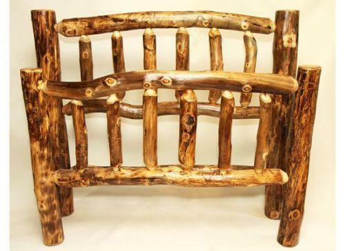 Aspen Log Bed Frame