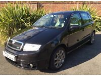 2007 SKODA FABIA VRS SPECIAL EDITION 1.9TDI PD130 BLACK EXCELLENT CONDITION