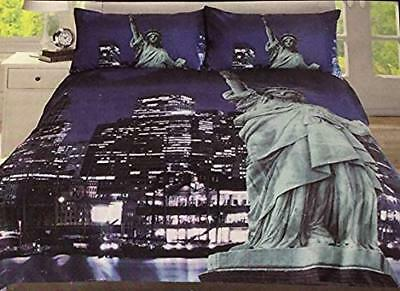 SINGLE NEW YORK PRINTED MICROFIBRE PANEL BEDDING