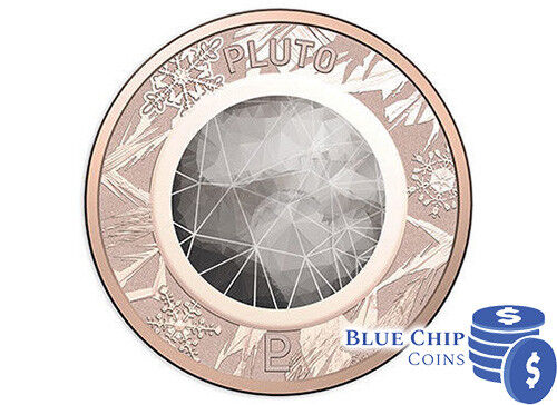 2017 1c One Cent Pluto Coin on Card from Royal Australian Mint Planetary Set