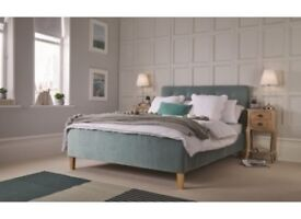 soft Velvet Aqua Bed Frame For Sale, 2 Sizes, Free Delivery , Brand New, From the LPD Range