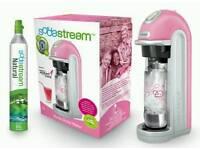 Pink Sodastream plus 2 mixer bottles