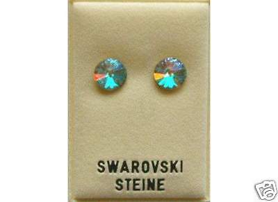 Neu OHRSTECKER 8mm SWAROVSKI STEINE in kristall AB/crystal AB OHRRINGE (Ab Stein Ohrringe)
