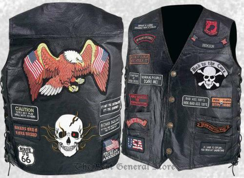 Leather Vests Motorcycle Men S Women S Biker Ebay