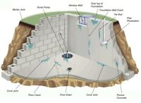 Wet Basement? Waterproofing, Foundation Repair, Crack Sealing...