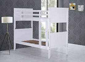Solid chunky, pure white, Bunk bed, Single, Thick, Firm, Mattress,assembles to single bed, bargain,