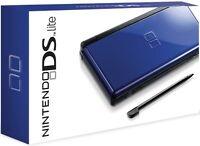 Nintendo DS Lite Cobalt/Black with starter kit & 6 games