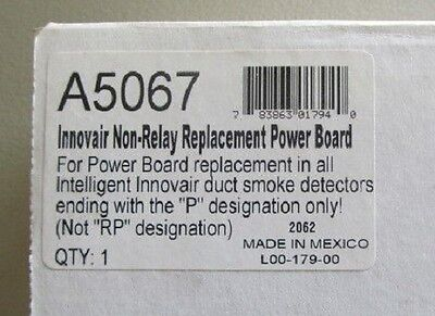 Innovair Honeywell A5067 Duct Detector Replacement Power Board