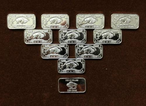 1 Gram Silver Buffalo Bar Ebay