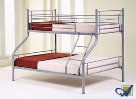 ==AMAZING OFFER== BRAND NEW TRIPLE METAL BUNK BED DOUBLE BOTTOM SINGLE TOP