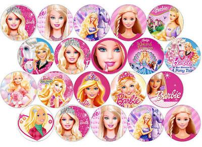 Muffinaufleger --Barbie 20 stück--Geburtstag--Party--Tor--Fondant //Oblate