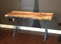 Unique Entrance Tables- Live Edge
