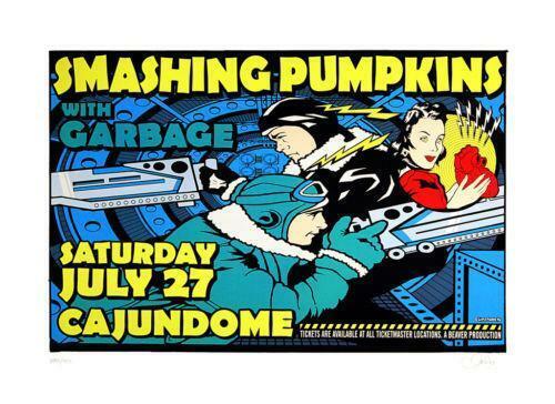Uncle Charlie - 1996 - Smashing Pumpkins Concert Poster Garbage Billy Corgan