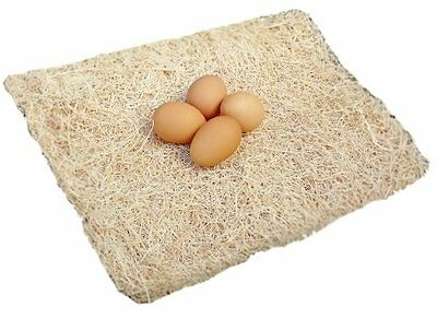 """Excelsior Poultry Nesting Pads 13""""x13"""" Bundle of 10 Chicken Hens Nest Bedding"""