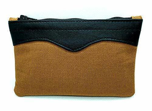 "Brown Arango 6"" Canvas Zipper Tobacco Pouch - 7708"