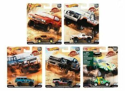 2019 Hot Wheels Desert Rally Set of 5 Cars Car Culture Case K 1/64 Diecast Cars