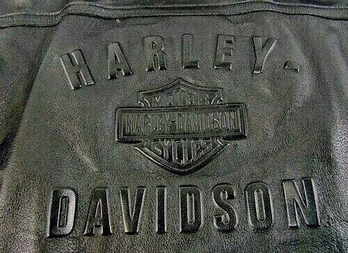 Embossed Harley Davidson Jacket XXL 2xl Very Very Nice!!