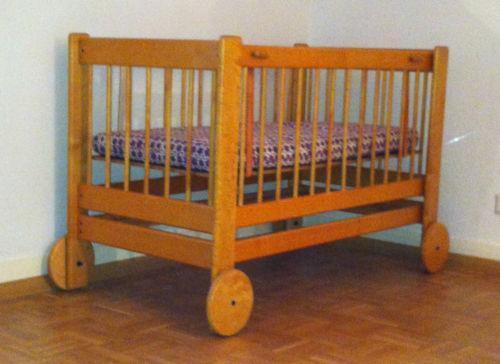 kinderbett vintage gitterbetten ebay. Black Bedroom Furniture Sets. Home Design Ideas