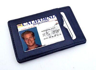 Black Genuine Leather Magic Wallet Flip ID Card Holder Gift Idea Mens Kids (Gift Card Holder Ideas)