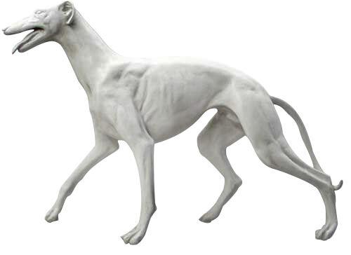 "Life-size Greyhound sculpture statue 48"""